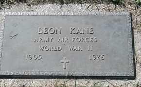 KANE, LEON - Morgan County, Missouri | LEON KANE - Missouri Gravestone Photos