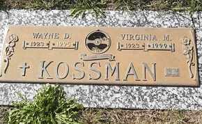 KOSSMAN, VIRGINIA M - Morgan County, Missouri | VIRGINIA M KOSSMAN - Missouri Gravestone Photos