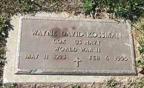 KOSSMAN, WAYNE DAVID - MILITARY - Morgan County, Missouri | WAYNE DAVID - MILITARY KOSSMAN - Missouri Gravestone Photos