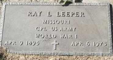 LEEPER, RAY L - MILITARY - Morgan County, Missouri | RAY L - MILITARY LEEPER - Missouri Gravestone Photos