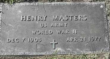 MASTERS, HENRY - Morgan County, Missouri   HENRY MASTERS - Missouri Gravestone Photos
