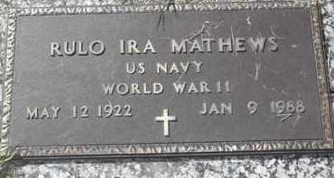 MATHEWS, RULO IRA - Morgan County, Missouri | RULO IRA MATHEWS - Missouri Gravestone Photos