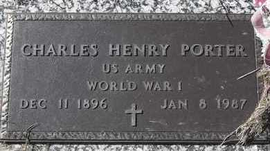 PORTER, CHARLES HENRY - MILITARY - Morgan County, Missouri | CHARLES HENRY - MILITARY PORTER - Missouri Gravestone Photos