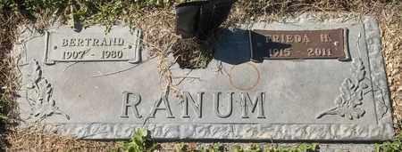 RANUM, BERTRAND - Morgan County, Missouri | BERTRAND RANUM - Missouri Gravestone Photos