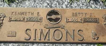 SIMONS, BETTY J - Morgan County, Missouri | BETTY J SIMONS - Missouri Gravestone Photos