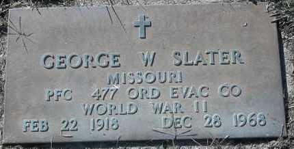 SLATER, GEORGE W - Morgan County, Missouri | GEORGE W SLATER - Missouri Gravestone Photos