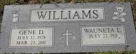 WILLIAMS, GENE D - Morgan County, Missouri   GENE D WILLIAMS - Missouri Gravestone Photos
