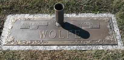 WOLFE, LOGAN E - Morgan County, Missouri | LOGAN E WOLFE - Missouri Gravestone Photos