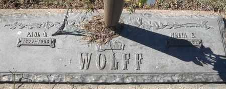 WOLFF, PAUL E - Morgan County, Missouri   PAUL E WOLFF - Missouri Gravestone Photos
