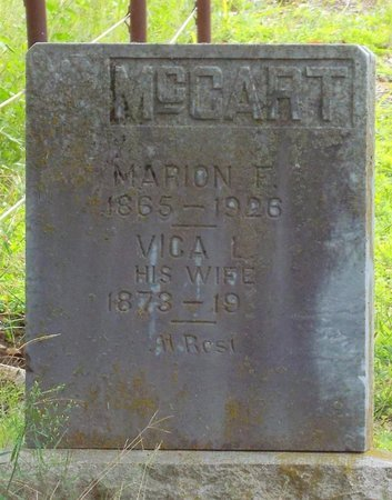 MARTIN MCCART, LOUISA VICA - Newton County, Missouri | LOUISA VICA MARTIN MCCART - Missouri Gravestone Photos