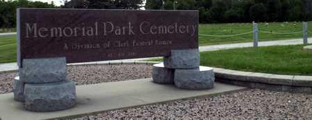 *, MEMORIAL PARK CEMETERY SIGN - Newton County, Missouri   MEMORIAL PARK CEMETERY SIGN * - Missouri Gravestone Photos