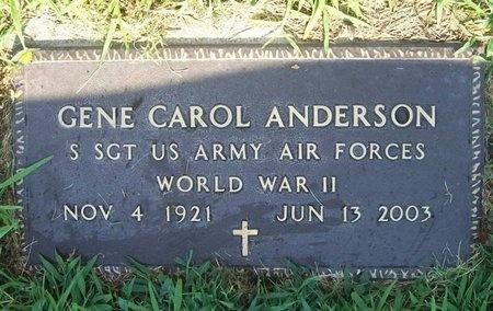 ANDERSON, GENE CAROL (VETERAN WWII) - Newton County, Missouri | GENE CAROL (VETERAN WWII) ANDERSON - Missouri Gravestone Photos