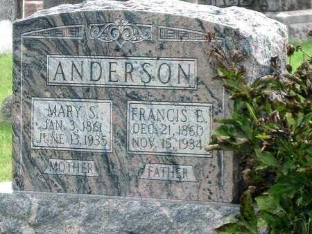 ANDERSON, MARY S - Newton County, Missouri | MARY S ANDERSON - Missouri Gravestone Photos