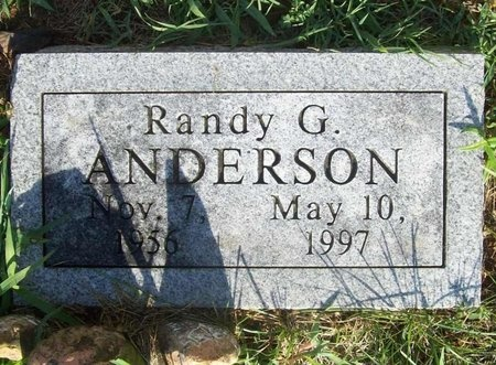 ANDERSON, RANDY G. - Newton County, Missouri | RANDY G. ANDERSON - Missouri Gravestone Photos