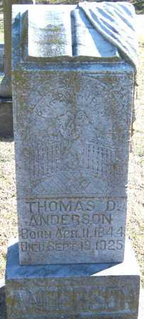 ANDERSON, THOMAS DENTON - Newton County, Missouri | THOMAS DENTON ANDERSON - Missouri Gravestone Photos