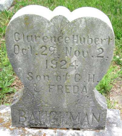 BAUGHMAN, CLARENCE HUBERT JR - Newton County, Missouri | CLARENCE HUBERT JR BAUGHMAN - Missouri Gravestone Photos