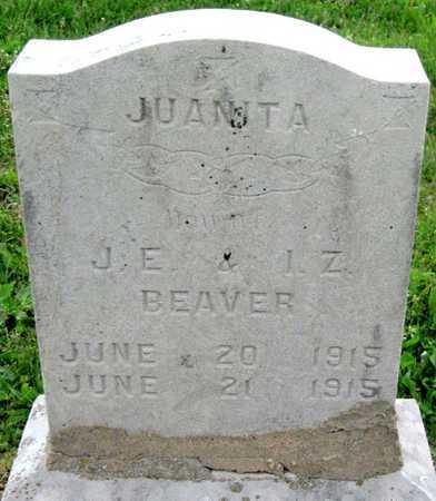 BEAVER, JUANITA - Newton County, Missouri   JUANITA BEAVER - Missouri Gravestone Photos