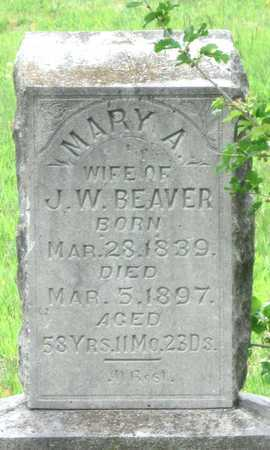 BEAVER, MARY A - Newton County, Missouri | MARY A BEAVER - Missouri Gravestone Photos