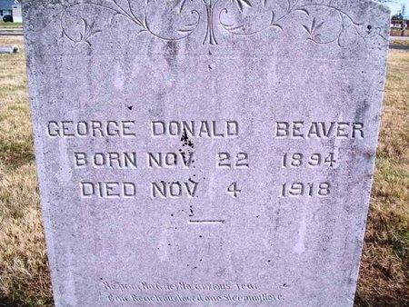 BEAVER, GEORGE DONALD VETERAN WWI - Newton County, Missouri | GEORGE DONALD VETERAN WWI BEAVER - Missouri Gravestone Photos