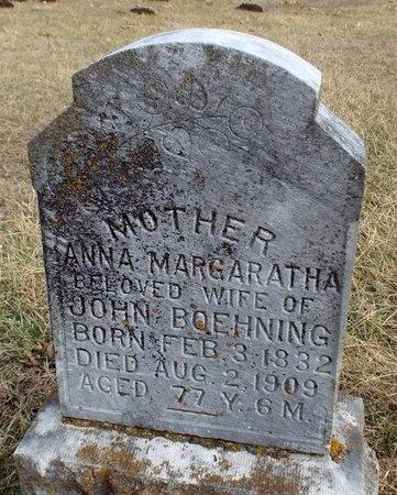 BOEHNING, ANNA MARGARATHA - Newton County, Missouri   ANNA MARGARATHA BOEHNING - Missouri Gravestone Photos