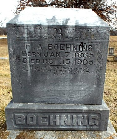 BOEHNING, FREDERICK A - Newton County, Missouri   FREDERICK A BOEHNING - Missouri Gravestone Photos