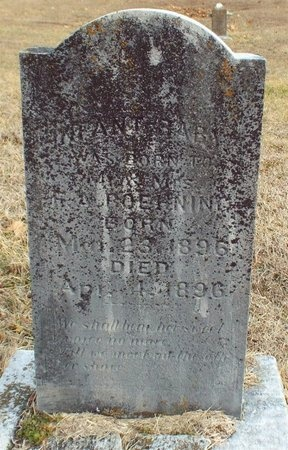 BOEHNING, INFANT - Newton County, Missouri   INFANT BOEHNING - Missouri Gravestone Photos