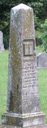 BORUFF, MATTIE BELLE - Newton County, Missouri | MATTIE BELLE BORUFF - Missouri Gravestone Photos