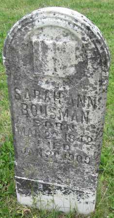 BOUSMAN, SARAH ANN - Newton County, Missouri   SARAH ANN BOUSMAN - Missouri Gravestone Photos