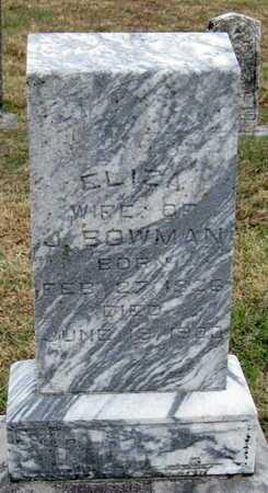 BOWMAN, ELIZA - Newton County, Missouri | ELIZA BOWMAN - Missouri Gravestone Photos