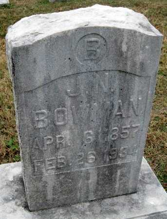BOWMAN, JOSEPH NEWMAN - Newton County, Missouri | JOSEPH NEWMAN BOWMAN - Missouri Gravestone Photos