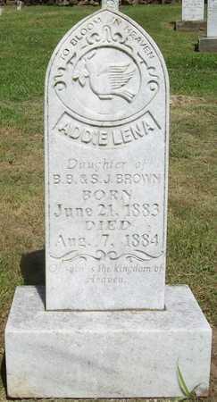 BROWN, ADDIE LENA - Newton County, Missouri | ADDIE LENA BROWN - Missouri Gravestone Photos