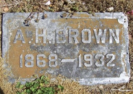 BROWN, A. H. - Newton County, Missouri | A. H. BROWN - Missouri Gravestone Photos