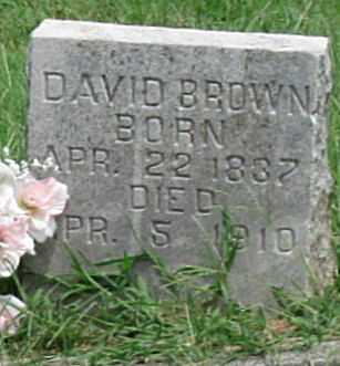 BROWN, DAVID - Newton County, Missouri | DAVID BROWN - Missouri Gravestone Photos