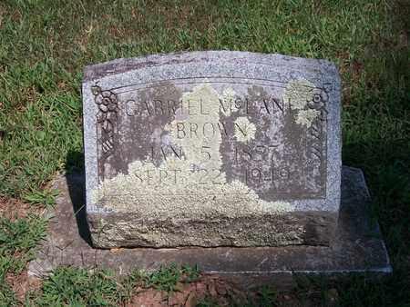 BROWN, GABRIEL - Newton County, Missouri   GABRIEL BROWN - Missouri Gravestone Photos