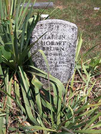 BROWN, HARBIN HOBART (VETERAN) - Newton County, Missouri | HARBIN HOBART (VETERAN) BROWN - Missouri Gravestone Photos