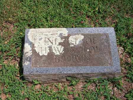 BROWN, INFANT - Newton County, Missouri | INFANT BROWN - Missouri Gravestone Photos
