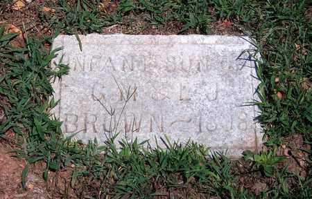 BROWN, INFANT - Newton County, Missouri   INFANT BROWN - Missouri Gravestone Photos