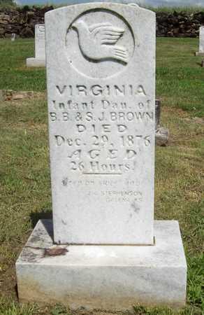BROWN, VIRGINIA - Newton County, Missouri | VIRGINIA BROWN - Missouri Gravestone Photos