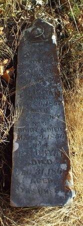 "BRYAN, MARTHA J. ""NO. 1"" - Newton County, Missouri   MARTHA J. ""NO. 1"" BRYAN - Missouri Gravestone Photos"