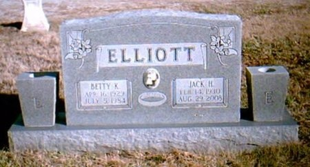 JONES ELLIOTT, BETTY K - Newton County, Missouri | BETTY K JONES ELLIOTT - Missouri Gravestone Photos