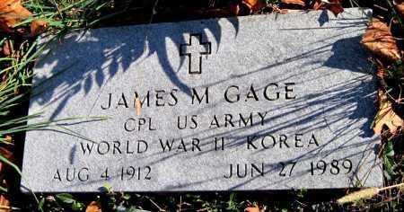 GAGE, JAMES MONROE (VETERAN WWII KOR) - Newton County, Missouri | JAMES MONROE (VETERAN WWII KOR) GAGE - Missouri Gravestone Photos