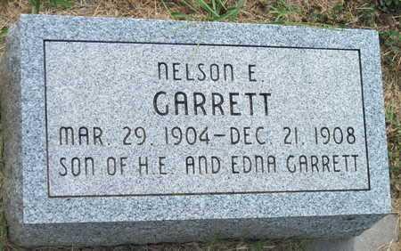 GARRETT, NELSON E - Newton County, Missouri | NELSON E GARRETT - Missouri Gravestone Photos
