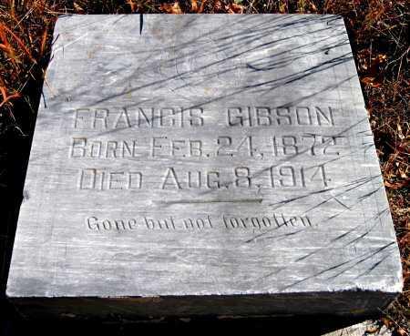 JEFFERSON GIBSON, FRANCIS - Newton County, Missouri | FRANCIS JEFFERSON GIBSON - Missouri Gravestone Photos