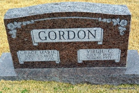 GORDON, GRACE MARIE - Newton County, Missouri | GRACE MARIE GORDON - Missouri Gravestone Photos