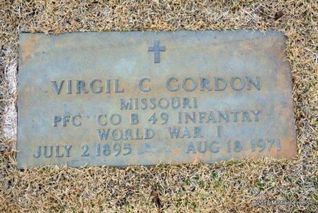 GORDON, VIRGIL C. VETERAN WWI - Newton County, Missouri   VIRGIL C. VETERAN WWI GORDON - Missouri Gravestone Photos