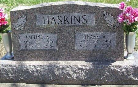 HASKINS, FRANK ALLISON - Newton County, Missouri | FRANK ALLISON HASKINS - Missouri Gravestone Photos