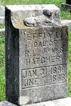 HATCHER, EFFIA L - Newton County, Missouri | EFFIA L HATCHER - Missouri Gravestone Photos