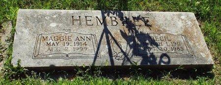 HEMBREE, MAGGIE ANN - Newton County, Missouri   MAGGIE ANN HEMBREE - Missouri Gravestone Photos