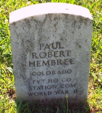 HEMBREE, PAUL ROBERT VETERAN WWII - Newton County, Missouri   PAUL ROBERT VETERAN WWII HEMBREE - Missouri Gravestone Photos