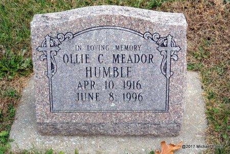HUMBLE, OLLIE C. - Newton County, Missouri | OLLIE C. HUMBLE - Missouri Gravestone Photos